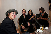 ALESSANDRA GRECO; GEE BRUNET; TINA ELHAGE; NATHALIE COMPTY, Launch of the Orange restaurant, 37 Pimlico Road, SW1W 8NE,  Thursday 29 October 2009