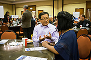 John Wong networks during the Silicon Valley Business Journal's Future of Fremont event at Fremont Marriott Silicon Valley in Fremont, California, on June 18, 2019.  (Stan Olszewski for Silicon Valley Business Journal)