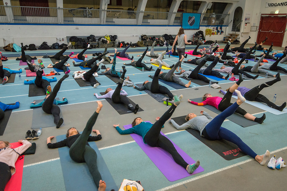 After Work Yoga for runners, held at Spartahallen and organised by author and yoga instructor Susanne Lidang