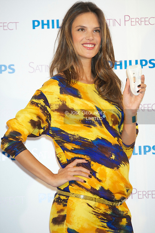 Alessandra Ambrosio presents new Satin Perfect from Philips at Me Hotel in Madrid
