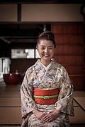 Koh-do (incense) master in Hakata Machiya Furusatokan.