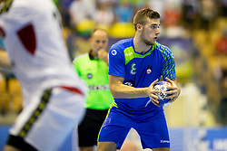 Tim Rozman of Slovenia during handball match between National teams of Portugal and Slovenia in Semifinal of 2018 EHF U20 Men's European Championship, on July 27, 2018 in Arena Zlatorog, Celje, Slovenia. Photo by Urban Urbanc / Sportida