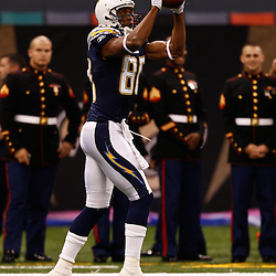 August 27, 2010; New Orleans, LA, USA; San Diego Chargers wide receiver Malcom Floyd (80) prior to the start of a preseason game at the Louisiana Superdome. The New Orleans Saints defeated the San Diego Chargers 36-21. Mandatory Credit: Derick E. Hingle