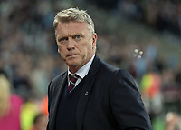 Football - 2017 / 2018 Premier League - West Ham United vs Stoke City<br /> <br /> A determined looking David Moyes, Manager of West Ham United, before the match kicks off at the London Stadium<br /> <br /> COLORSPORT/DANIEL BEARHAM