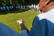 20190608, Saturday, June 8, 2019, North Easton, MA, USA – A multitude of the My Brother's Keeper extended family gathered together in North Easton on the campus of Stonehill College and walked part of the college's lush summertime grounds for their ninth annual 2.5 mile Family Walk to build community and celebrate their mission on a beautiful Saturday afternoon. <br /> At the finish of the fundraising walk music, food and amusements welcomed the entire ever-expanding My Brother's Keeper family.<br /> <br /> ( 2019 © lightchaser photography )