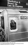 Anna Wintour on subway. New York 1992.<br />© Copyright Photograph by Dafydd Jones<br />66 Stockwell Park Rd. London SW9 0DA<br />Tel 0171 733 0108