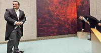 Nederland. Den Haag, 21 september2010.<br /> Ministerie van Financien Jan Kees de Jager in de Tweede Kamer<br /> Prinsjesdag, gouden koets, opening parlementaire jaar, politiek, binnenhof, democratie, monarchie<br /> Foto Martijn Beekman