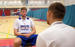 New signing for the Bristol Flyers, Michael Vigor is interviewed by Bristol Flyers TV- Mandatory by-line: Robbie Stephenson/JMP - 05/09/2016 - BASKETBALL - SGS Wise Arena - Bristol, England - Bristol Flyers - British Basketball League - Bristol Flyers New Signings -