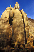 Sri Lanka. Aukana Buddha. The rock cut statue stands 39 feet above its decorated lotus plinth and 10 feet across the shoulders. 2005