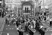 Elsecar and Silverwood banners, 1983 Yorkshire Miner's Gala. Barnsley