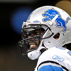 January 7, 2012; New Orleans, LA, USA; Detroit Lions wide receiver Calvin Johnson (81) against the New Orleans Saints during the 2011 NFC wild card playoff game at the Mercedes-Benz Superdome. Mandatory Credit: Derick E. Hingle-US PRESSWIRE