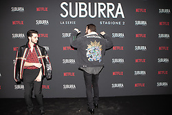 Alessandro Borghi e Giacomo Ferrara at the Red Carpet of the series Suburra 2 at Circolo Degli Illuminati in Rome, Italy, 20 February 2019 .Dress: Gucci, Fendi  (Credit Image: © Lucia Casone/Soevermedia via ZUMA Press)