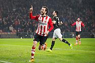 EINDHOVEN, PSV - Heracles Almelo, voetbal, Eredivisie seizoen 2015-2016, 20-02-2016, Philips Stadion, PSV speler Davy Propper (L) heeft de 1-0 gescoord.