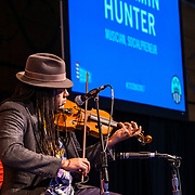 """Citizen University National Conference 2017 """"Reckoning and Repair in America"""". Benjamin Hunter (musician and socialpreneur). Photo by Alabastro Photography."""