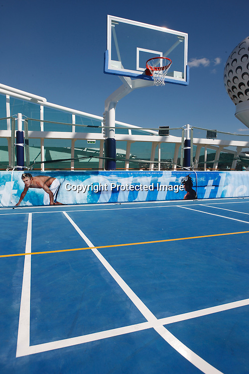 Royal Caribbean International's  Independence of the Seas, the world's largest cruise ship...Sports court
