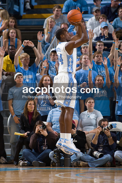 13 December 2008: North Carolina Tar Heels guard Justin Watts (24) during a 116-48 win over the UNC Asheville Bulldogs at the Dean Smith Center in Chapel Hill, NC.