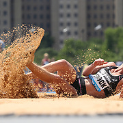 Amanda Smock, USA, in action during the Women's Triple Jump competition during the Diamond League Adidas Grand Prix at Icahn Stadium, Randall's Island, Manhattan, New York, USA. 14th June 2014. Photo Tim Clayton