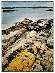 """Rock ledges at Great Island Common in New Castle, New Hampshire. iPhone photo - suitable for print reproduction up to 8"""" x 12""""."""