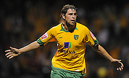 Yeovil - Tuesday, August 11th, 2009: Grant Holt of Norwich City celebrates his 2nd goal during the Carling Cup 1st Round match at Yeovil. (Pic by Alex Broadway/Focus Images)