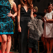 NLD/Amsterdam/20120910 - Modeshow Raak 2012 / 2013 Amsterdam, Lieke van Lexmond en Rochelle Perts