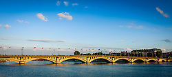 Bridge over the River Adour in Bayonne, Aquitaine, France<br /> <br /> (c) Andrew Wilson | Edinburgh Elite media