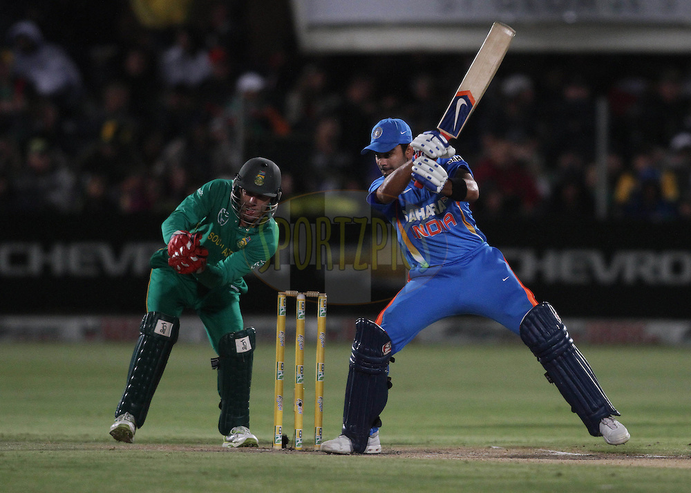 Virat Kohli of India square cuts a delivery during the 4th ODI between South Africa and India held at St Georges Park in Port Elizabeth, Eastern Cape, South Africa on the 21st January 2011..Photo by Shaun Roy/BCCI/SPORTZPICS