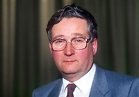 Peter McLachlan, secretary, Belfast Voluntary Welfare Service, Unionist Party of N Ireland member of N Ireland Assembly 1973 to 1974. 19860303PML<br /> <br /> Copyright Image from Victor Patterson, 54 Dorchester Park, <br /> Belfast, UK, BT9 6RJ<br /> <br /> t1: +44 28 9066 1296 (from Rep of Ireland 048 9066 1296)<br /> t2: +44 28 9002 2446 (from Rep of Ireland 048 9002 2446)<br /> m: +44 7802 353836<br /> <br /> e1: victorpatterson@me.com<br /> e2: victorpatterson@gmail.com<br /> <br /> www.victorpatterson.com<br /> <br /> Please see my Terms and Conditions of Use at VICTORPATTERSON.COM. It is IMPORTANT that you familiarise yourself with them.<br /> <br /> Images used on the Internet must be visibly watermarked i.e. ©VICTORPATTERSON.COM within the body of the image and copyright metadata must not be deleted. Images used on the Internet have a size restriction of 4kbs and are chargeable at the then current NUJ rates.<br /> <br /> This image is only available for the use of the download recipient i.e. television station, newspaper, magazine, book publisher, etc, and must not be passed on to any third party. It is also downloaded on condition that each and every usage is notified within 7 days to victorpatterson@me.com<br /> <br /> The right of Victor Patterson to be identified as the author is asserted in accordance with The Copyright Designs And Patents Act (1988).