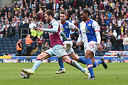 Aston Villa Midfielder, Gary Gardner (22) and Blackburn Rovers Defender,  Ryan Nyambe (24)  during the EFL Sky Bet Championship match between Blackburn Rovers and Aston Villa at Ewood Park, Blackburn, England on 29 April 2017. Photo by Mark Pollitt.