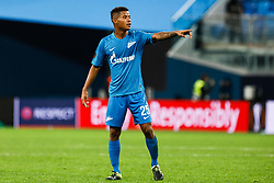 February 21, 2019 - Saint Petersburg, Russia - Wilmar Barrios of FC Zenit Saint Petersburg gestures during the UEFA Europa League Round of 32 second leg match between FC Zenit Saint Petersburg and Fenerbahce SK on February 21, 2019 at Saint Petersburg Stadium in Saint Petersburg, Russia. (Credit Image: © Mike Kireev/NurPhoto via ZUMA Press)