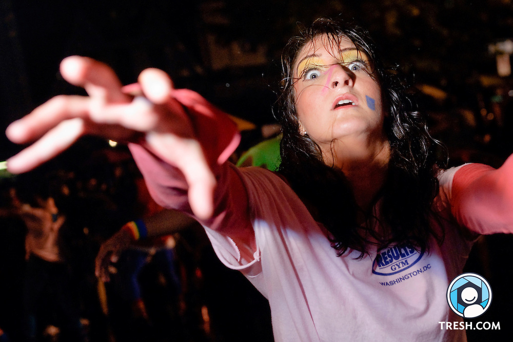 """A Results dancer performs during the """"Thriller"""" dance prior to the 23rd annual High Heel Race held at 17th & Q Streets, NW, in Washington, D.C., Tuesday, October 27, 2009."""