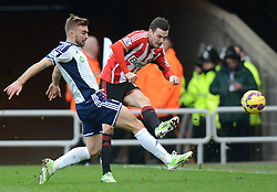 West Bromwich Albion's James Morrison challenges Sunderland's Adam Johnson - Photo mandatory by-line: Richard Martin-Roberts/JMP - Mobile: 07966 386802 - 21/02/2015 - SPORT - Football - Sunderland - Stadium of Light - Sunderland v West Bromwich Albion - Barclays Premier League