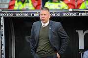 Darren Ferguson Doncaster Rovers Manager during the Sky Bet League 1 match between Doncaster Rovers and Wigan Athletic at the Keepmoat Stadium, Doncaster, England on 16 April 2016. Photo by Stephen Connor.
