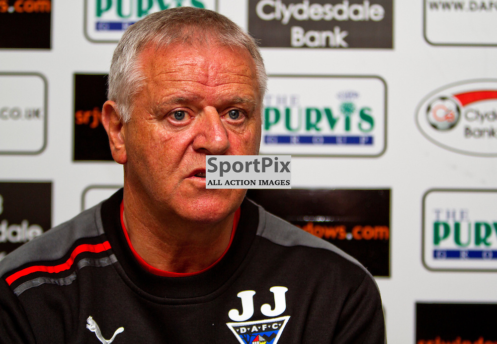 The Clydesdale Bank Scottish Premier League, Season 2011/12.Dunfermline Athletic Football Club - Pre match news conference..21-03-12...Jim Jefferies is unvailed as the new Dunfermline Manager in this afternoons Dunfermline Athletic news conference. ..At Pitreavie- Dunfermline Academy of sport, Dunfermline...Picture, Craig Brown ..Wednesday 21st March 2012.