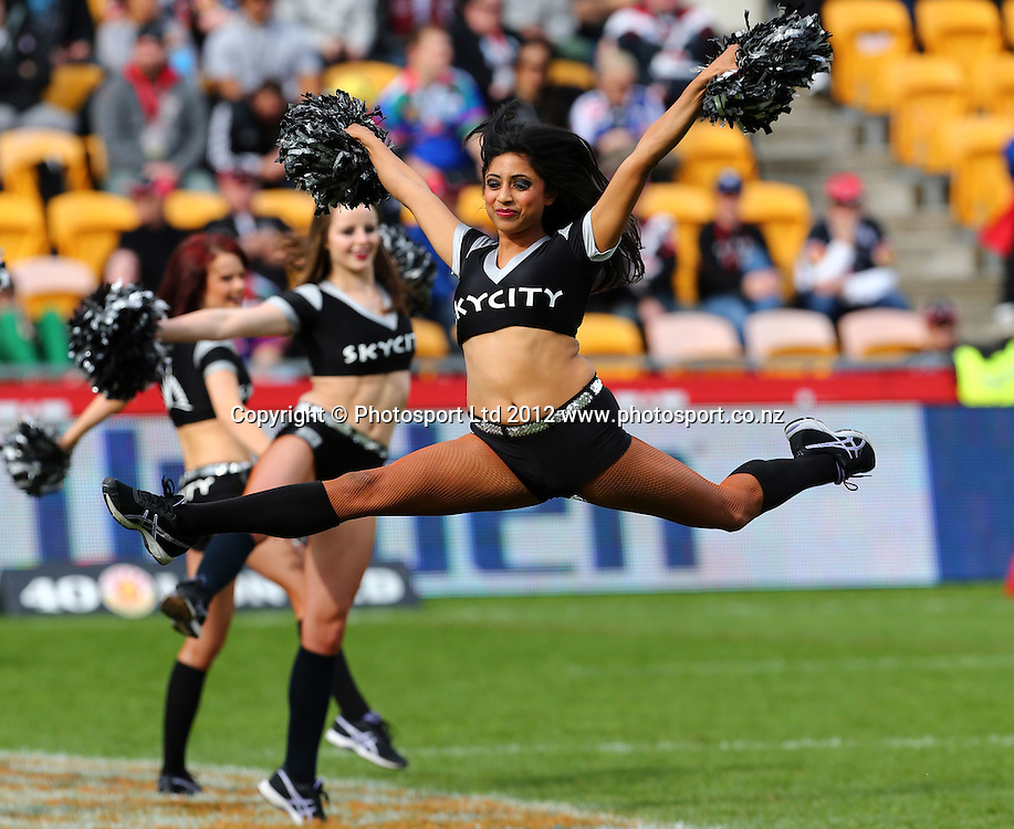 Warriors Cheerleaders during the NRL game, Vodafone Warriors v Cronulla Sharks, Mt Smart Stadium, Auckland, Sunday 5 August  2012. Photo: Simon Watts /photosport.co.nz