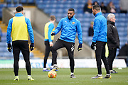 Jerome Sinclair of Oxford United warms up with his team mates prior to the EFL Sky Bet League 1 match between Oxford United and Peterborough United at the Kassam Stadium, Oxford, England on 16 February 2019.