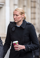 © Licensed to London News Pictures. 02/10/2018. Bristol, UK. Teacher ELLIE WILSON (blonde hair) arrives at Bristol Crown Court during her trial, accused of having sexual activity with a school pupil. The 29 year old from Dursley in Gloucestershire denies four counts of abuse of position and sexual activity with a child. She was a physics teacher at a Bristol secondary school (which cannot be named for legal reasons) when the alleged offences took place in August 2015. It is alleged that Wilson had sex with the male pupil in the toilet of an aircraft on the return flight from a school trip to southern Africa. When interviewed Wilson said there was a friendship with the boy and admitted she shouldn't have gone as far as she did but there was nothing sexual. Photo credit: Simon Chapman/LNP