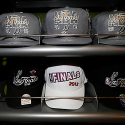 Jun 11, 2013; San Antonio, TX, USA; General view of merchandise prior to game three of the 2013 NBA Finals between the Miami Heat and the San Antonio Spurs at the AT&T Center. Mandatory Credit: Derick E. Hingle-USA TODAY Sports
