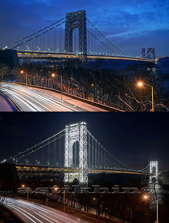 Two type of George Washington Bridge.