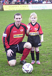 MASCOT FOR CHESTER GAME WITH LEE HOWARTH 4/1/03 Kettering Town v Chester Rockingham Road, 4th January 2003