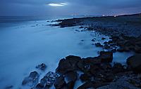 Summer night Ireland Ailladie coast Burren region Ireland