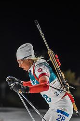 February 12, 2018 - Pyeongchang, Gangwon, South Korea - Krystyna Guzik ofPoland competing at Women's 10km Pursuit, Biathlon, at olympics at Alpensia biathlon stadium, Pyeongchang, South Korea. on February 12, 2018. (Credit Image: © Ulrik Pedersen/NurPhoto via ZUMA Press)