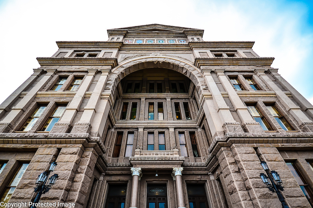 Massive and majestic entrance to the Texas State Capitol Building in Austin, TX