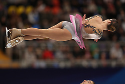 January 17, 2018 - Moscow, Russia - Nicole Della Monica and Matteo Guarise of Italy perform their short program in the pair competition at the 2018 ISU European Figure Skating Championships, at Megasport Arena in Moscow. (Credit Image: © Igor Russak/NurPhoto via ZUMA Press)