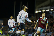 Derby County defender Cyrus Christie waiting for the ball  during the Sky Bet Championship match between Burnley and Derby County at Turf Moor, Burnley, England on 25 January 2016. Photo by Simon Davies.
