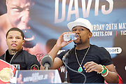 Floyd Mayweather Jr & Frank Warren press conference at The Savoy Hotel, London, Great Britain <br /> 7th March 2017 <br /> <br /> <br /> <br /> Gervonta Davis <br /> (an American professional boxer who has held the IBF junior lightweight title since January 2017)<br /> <br /> Floyd Joy Mayweather Jr. is an American former professional boxer who competed from 1996 to 2015 and currently works as a boxing promoter. <br /> 