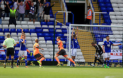 Jon Dadi Bodvarsson of Reading scores the opening goal for his side (0-1) - Mandatory by-line: Paul Roberts/JMP - 26/08/2017 - FOOTBALL - St Andrew's Stadium - Birmingham, England - Birmingham City v Reading - Sky Bet Championship