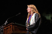 Haley Trottier speaks at Undergraduate Commencement. ©Ohio University/ Photo by Kaitlin Owens