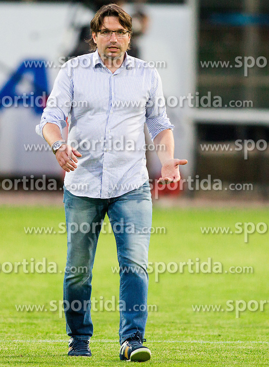 Jernej Javornik, head coach of Rudar during football match between NK Rudar Velenje and KF Laci (Albania) in 1st Round of UEFA Europa League Qualifications on July 3, 2014 in Arena Petrol, Celje, Slovenia. Photo By Vid Ponikvar / Sportida