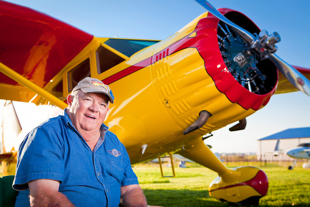 """Tom Dinndorf fully restored this Stinson Reliant SR 10 """"Gull Wing"""".  It was originally purchased by Shell Oil in 1938, and flown by Jimmy Doolittle for two years before WWII.  Airventure 2010, Oshkosh, Wisconsin.  <br /> <br /> Created by aviation photographer John Slemp of Aerographs Aviation Photography. Clients include Goodyear Aviation Tires, Phillips 66 Aviation Fuels, Smithsonian Air & Space magazine, and The Lindbergh Foundation.  Specialising in high end commercial aviation photography and the supply of aviation stock photography for advertising, corporate, and editorial use."""