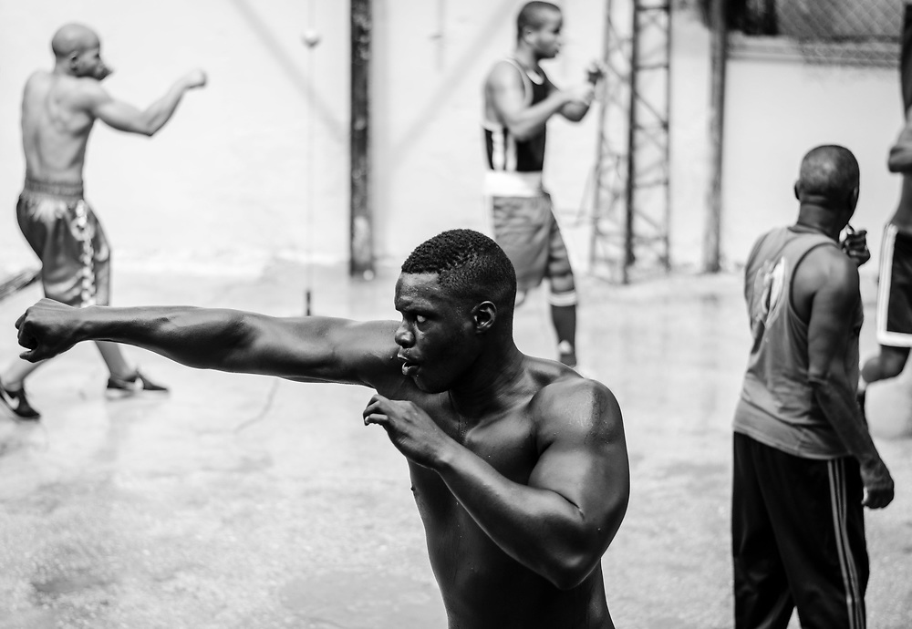Black and White Images from the Rafael Trejo Boxing Gym in Havana, Cuba